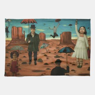 spirits of the flying umbrellas kitchen towel