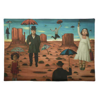 spirits of the flying umbrellas placemat