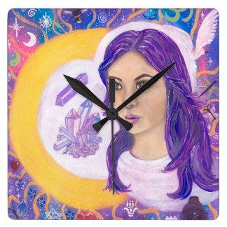 Spiritual Awakening Square Clock