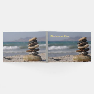 Spiritual Balanced Stones Stack Guest Book