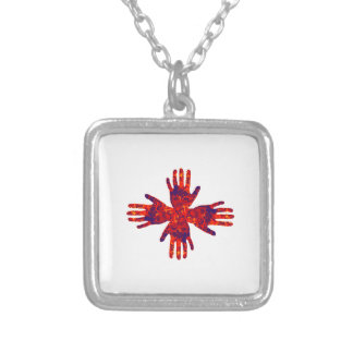 Spiritual Bindings Silver Plated Necklace