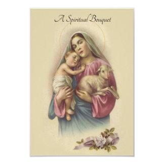 Spiritual Bouquet Prayer Offering Card