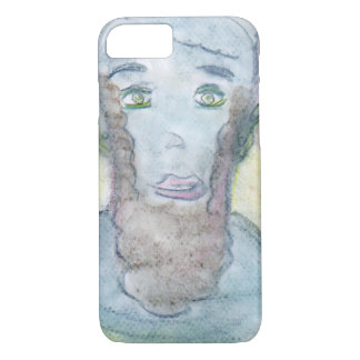 Spiritual Chalk Drawing of Abraham Lincoln iPhone 7 Case