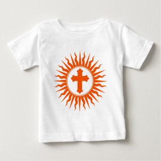 Spiritual Cross Design Baby T-Shirt