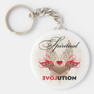 Spiritual Evolution Basic Round Button Keychain