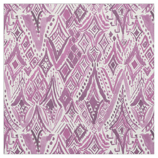 SPIRITUAL FRIGGIN DIAMONDS Purple Tribal Ikat Fabric