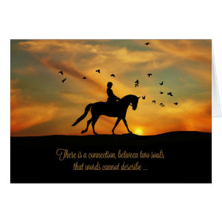 Spiritual Horse Sympathy Dressage Horse and Rider Card