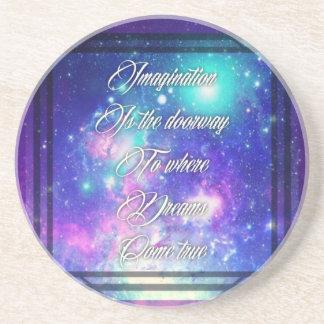 Spiritual Inspirational Dreams Come True Quote Coaster