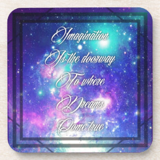 Spiritual Inspirational Dreams Come True Quote Coaster