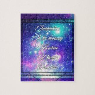 Spiritual Inspirational Dreams Come True Quote Jigsaw Puzzle