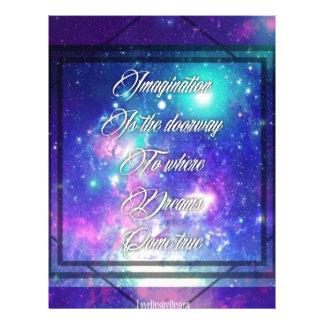 Spiritual Inspirational Dreams Come True Quote Letterhead