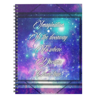 Spiritual Inspirational Dreams Come True Quote Notebook