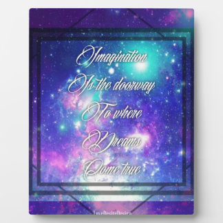 Spiritual Inspirational Dreams Come True Quote Plaque