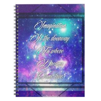 Spiritual Inspirational Dreams Come True Quote Spiral Notebook