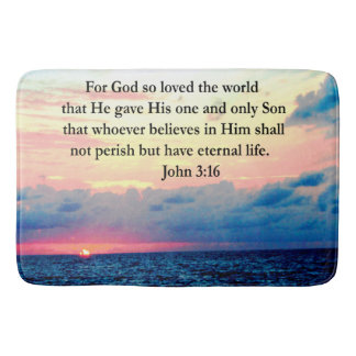 SPIRITUAL JOHN 3:16 PHOTO BATH MAT