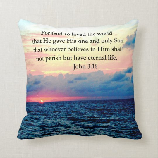 SPIRITUAL JOHN 3:16 PHOTO THROW PILLOW