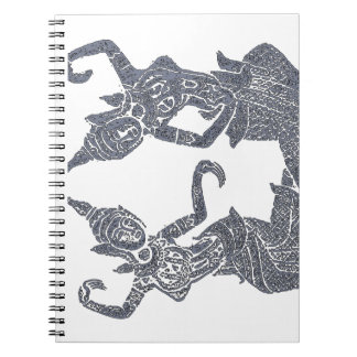 Spiritual Journal  Thai temple Rubbing design