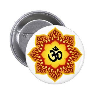Spiritual Lotus Om Design 2 Inch Round Button