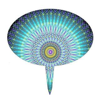 Spiritual Mandala Gifts Oval Cake Pick