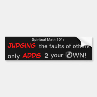 spiritual math 101:16hb bumper sticker