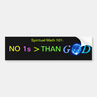 spiritual math 101-24hb bumper sticker