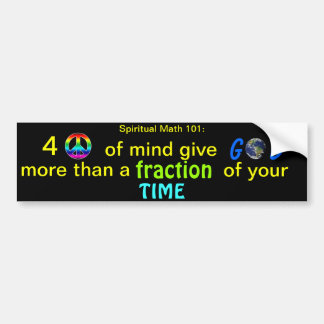 spiritual math 101-33hb bumper sticker