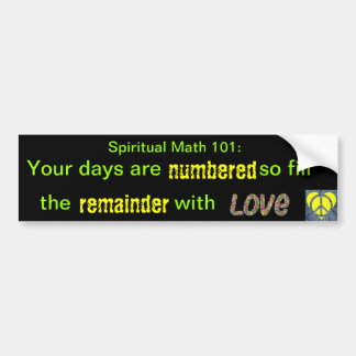 spiritual math 101-3hb bumper sticker