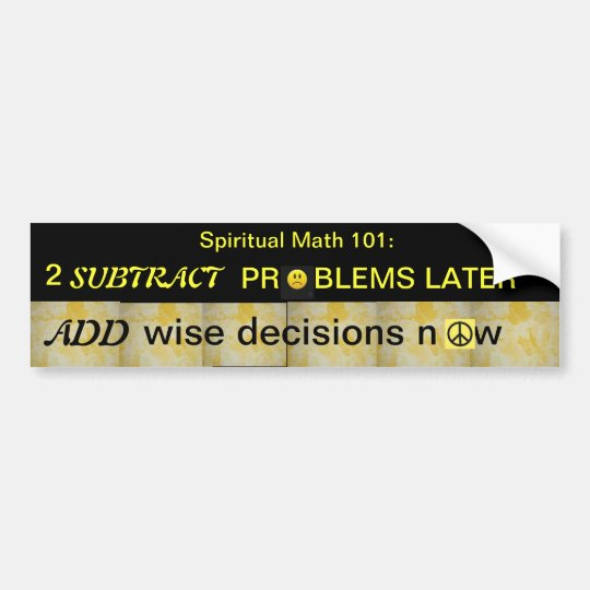 spiritual math 101-6hb bumper sticker
