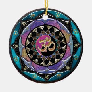 Spiritual Moon Mandala Christmas Ornament