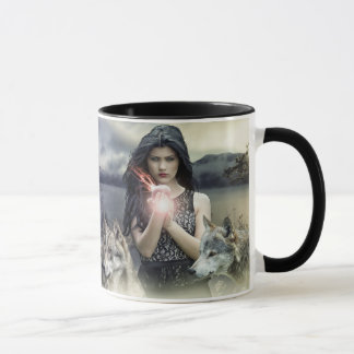 Spiritual Mystical Magical Woman & Wolves Quote Mug