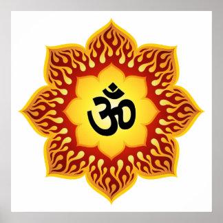 Spiritual Om Design. Posters