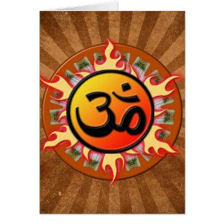 Spiritual Om Greeting Card