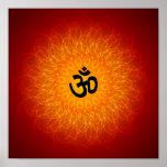 Spiritual Om On Mandala Poster