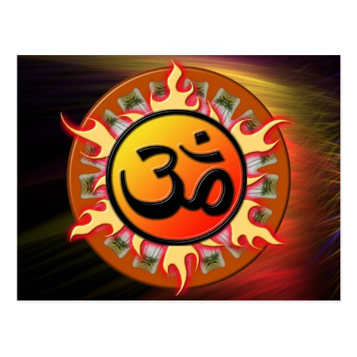 Spiritual Om Postcard