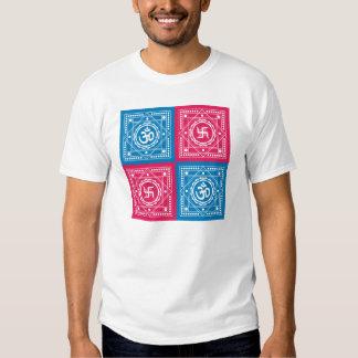 Spiritual Om & Swastika Design T-shirts