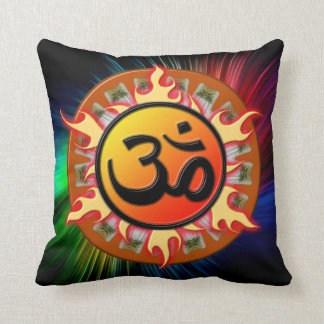 Spiritual Om Throw Pillow