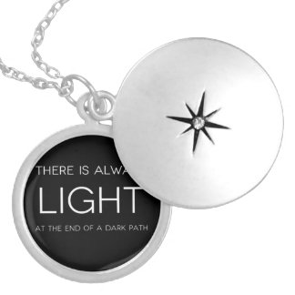 Spiritual Quote Silver Plated Necklace