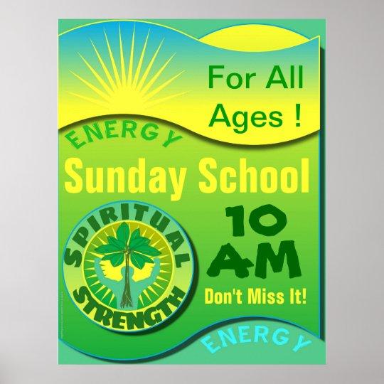 Spiritual Strength Sunday School Poster