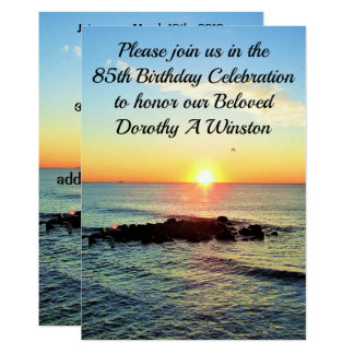 SPIRITUAL SUNRISE 85TH BIRTHDAY INVITATIONS