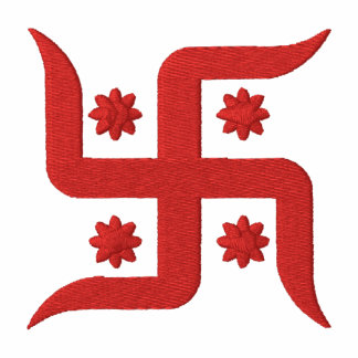 Spiritual Swastika Design Embroidered Shirt