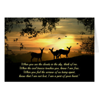 Spiritual Sympathy Poem with Deer Card