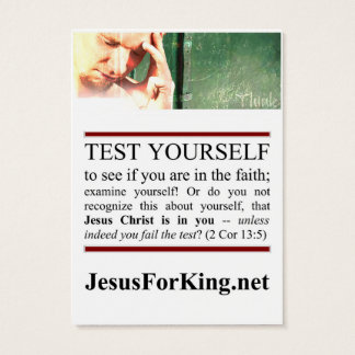 Spiritual Test Business Card