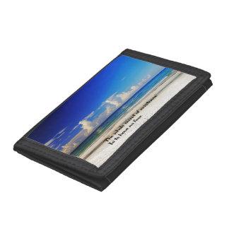 Spiritual tri-fold wallet