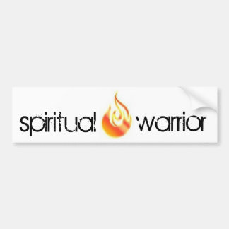spiritual warrior bumpersticker bumper sticker