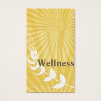 Spiritual Wellness Religion  Sunburst Sun Rays Business Card