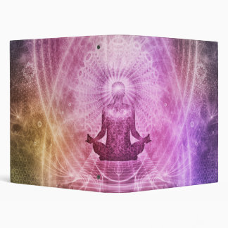 Spiritual Yoga Meditation Zen Colorful 3 Ring Binders