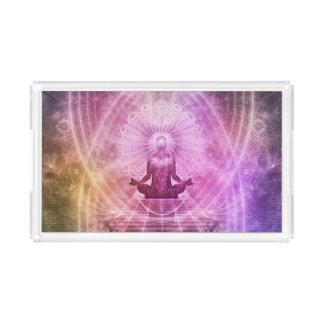 Spiritual Yoga Meditation Zen Colorful Acrylic Tray