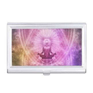Spiritual Yoga Meditation Zen Colorful Business Card Holder