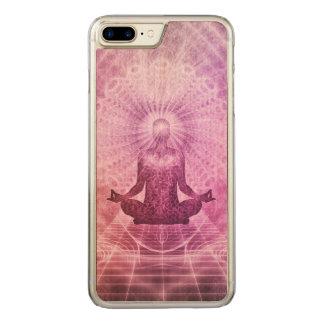 Spiritual Yoga Meditation Zen Colorful Carved iPhone 8 Plus/7 Plus Case