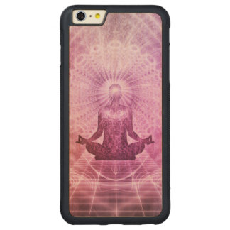 Spiritual Yoga Meditation Zen Colorful Carved Maple iPhone 6 Plus Bumper Case